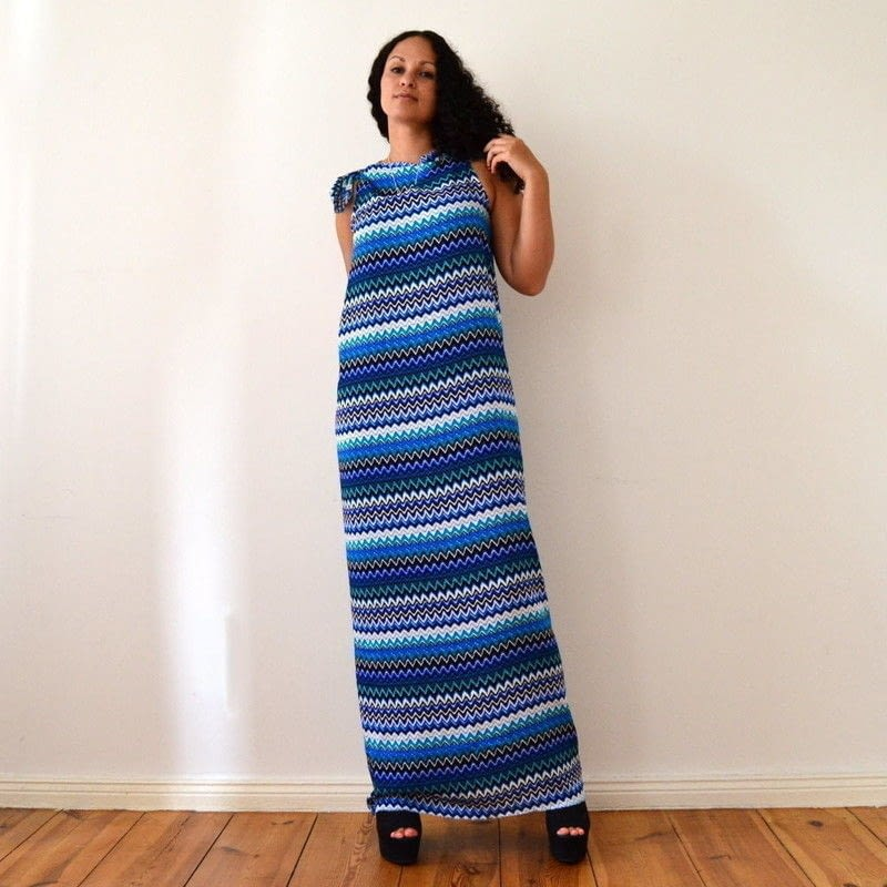 Diy No Sew Maxi Dress In 5 Minutes 183 How To Sew A Maxi