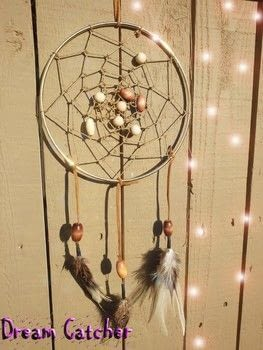 Sweet dreams .  Free tutorial with pictures on how to make a dream catcher in under 60 minutes by decorating with kit, feathers, and hoop. Inspired by dreamcatchers. How To posted by Ashinezz.  in the Home + DIY section Difficulty: Simple. Cost: Cheap. Steps: 8