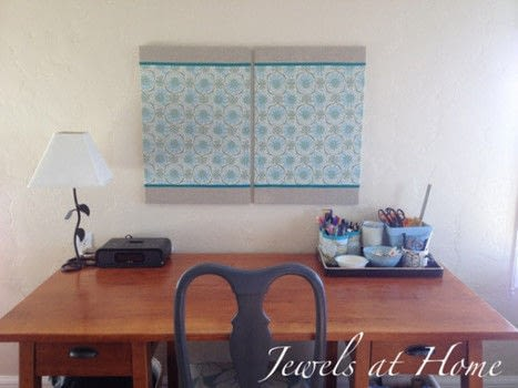 Stick to it! .  Free tutorial with pictures on how to make a magnetic board in under 60 minutes by decorating with board, glue stick, and fabric. How To posted by Jewels at Home.  in the Home + DIY section Difficulty: Easy. Cost: Absolutley free. Steps: 2