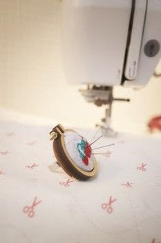 Keep your sewing pins on hand (pun intended) with a pincushion ring! .  Free tutorial with pictures on how to make a ring pin cushions in under 35 minutes by embroidering with ring base, paper, and fabric. How To posted by Cat Morley.  in the Needlework section Difficulty: Simple. Cost: Cheap. Steps: 12