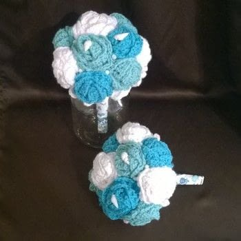 Beach wedding .  Make a bouquet in under 120 minutes using yarn, crochet hook, and styrofoam. Inspired by weddings, summer holidays, and floral. Creation posted by Carol S.  in the Yarncraft section Difficulty: Easy. Cost: Cheap.