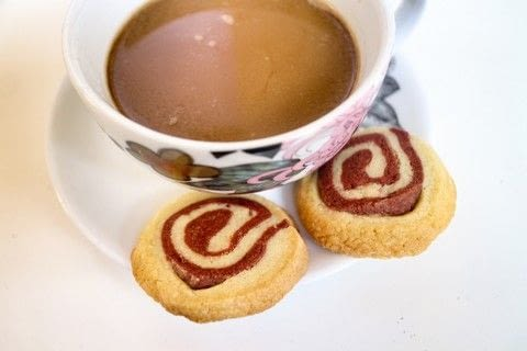 Adorable little red velvet swirl cookies with lemon & strawberry! .  Free tutorial with pictures on how to bake a pinwheel cookie in under 45 minutes by cooking and baking with flour, butter, and sugar. Recipe posted by Cat Morley.  in the Recipes section Difficulty: Simple. Cost: Cheap. Steps: 12