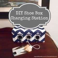 Diy Shoebox Charging Station