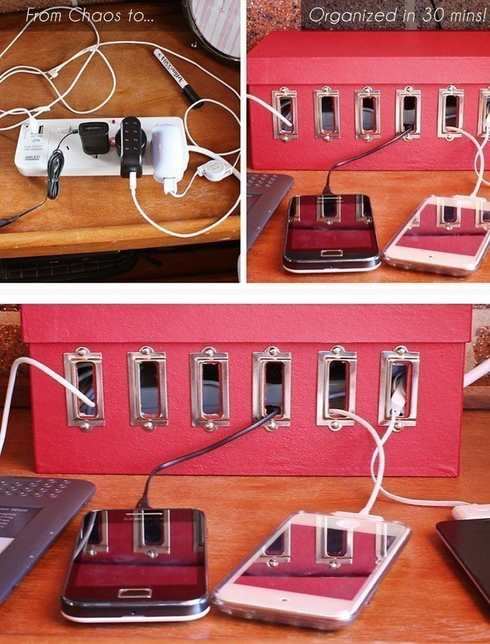Diy Shoebox Charging Station  U00b7 How To Make A Charging