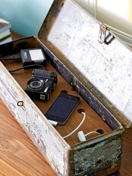 DIY Shoe Box Charger For Your Devices .  Free tutorial with pictures on how to make a charging station in under 60 minutes using coupler, cardboard box, and scissors. How To posted by Audrey W.  in the Home + DIY section Difficulty: Easy. Cost: Cheap. Steps: 5