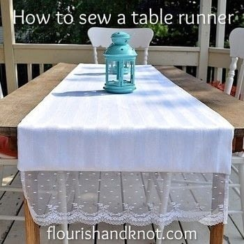 8 simple steps to sewing a (reversible!) table runner .  Free tutorial with pictures on how to make a tablecloth / table runner in under 120 minutes by sewing with sewing thread, sewing machine, and scissors. How To posted by Flourish & Knot.  in the Needlework section Difficulty: Simple. Cost: 3/5. Steps: 8