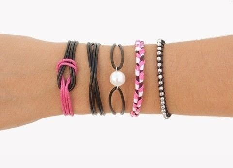 5 easy DIY leather friendship bracelets to make this summer  .  Free tutorial with pictures on how to make a beaded bracelet in under 30 minutes using leather, clasps, and pliers. How To posted by CurlyMade.  in the Jewelry section Difficulty: Easy. Cost: Cheap. Steps: 1