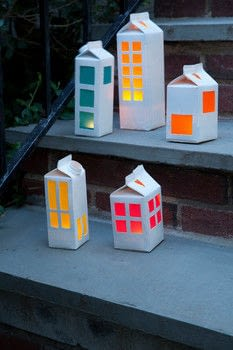 Craft Camp .  Free tutorial with pictures on how to make a lantern in under 25 minutes by papercrafting with milk carton, spray paint, and tissue paper. How To posted by GMC Group.  in the Papercraft section Difficulty: Simple. Cost: Cheap. Steps: 9