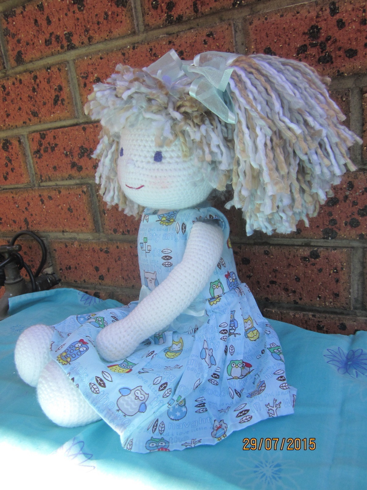 how to make a rag doll out of yarn