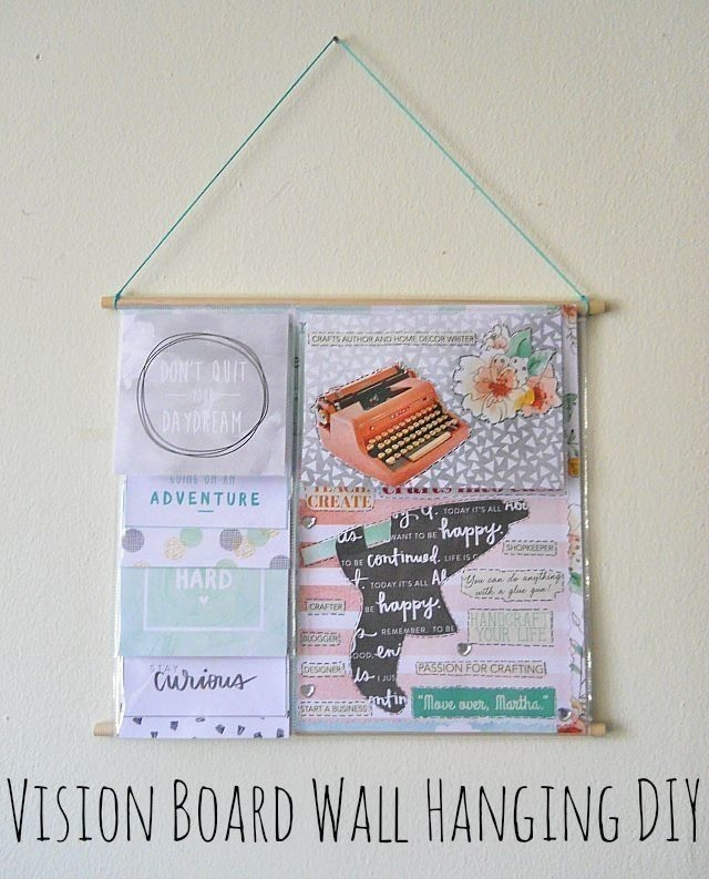 Vision Board Wall Hanging Diy 183 How To Make A Hanging