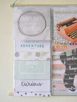 Learn How To Turn Those Scrapbooking Layouts Into A Vision Board Wall Hanging! .  Free tutorial with pictures on how to make a hanging in under 180 minutes by papercrafting How To posted by Katie K.  in the Papercraft section Difficulty: Easy. Cost: 3/5. Steps: 7