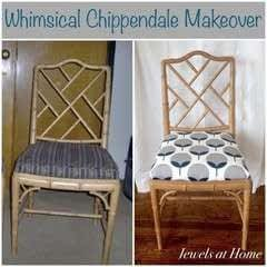 Whimsical Chippendale Chair Makeover