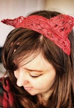 Sew simple, cheap & adorable cat lolita lace headband with bendable ears! .  Free tutorial with pictures on how to make a lace headband in under 15 minutes by jewelrymaking and sewing with lace, wire, and thread. Inspired by cats and lolita. How To posted by Cat Morley.  in the Sewing section Difficulty: Simple. Cost: Cheap. Steps: 10