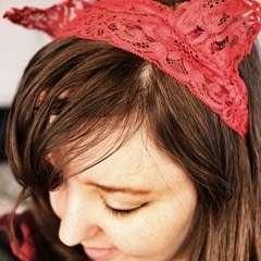 Lace Cat Ear Headband