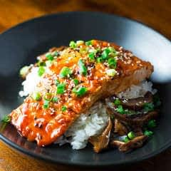 Spicy Korean Glazed Salmon