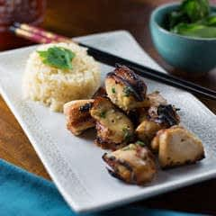 Thai Green Curry Chicken Skewers
