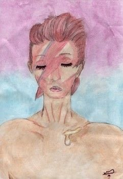 Pastel tributes to David Bowie ♥ .  Draw & Paint a piece of character art in under 180 minutes by creating and drawing with pencil, promarkers, and paper. Inspired by music & bands. Creation posted by Only Frills and Horses.  in the Art section Difficulty: 3/5. Cost: Cheap.