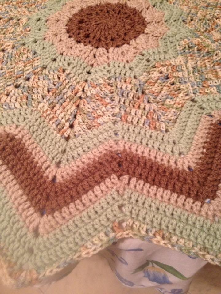 Aspen Round Ripple How To Stitch A Knit Or Crochet Blanket