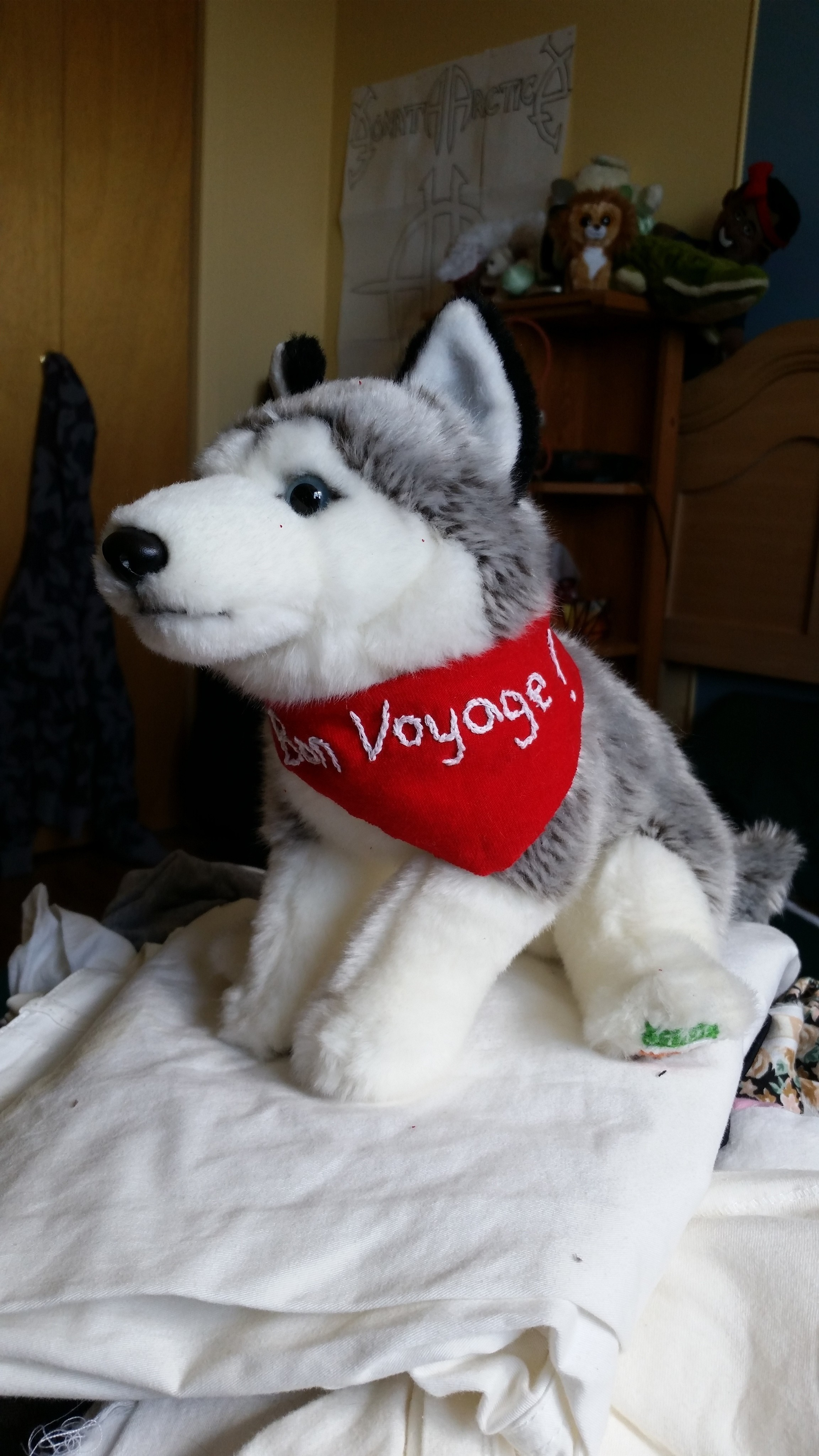 Bon Voyage Wolf Plush 183 A Wolf Plushie 183 Needlework On