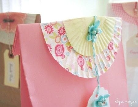 No gift bag? No problem! Grab a lunch sack and cupcake liners and you're off to the party! .  Free tutorial with pictures on how to make a gift bag in under 15 minutes by decorating, embellishing, papercrafting, and paper folding with paper bag, embellishments, and stapler. Inspired by gifts and lunch. How To posted by tinkeredtreasrs.  in the Papercraft section Difficulty: Easy. Cost: Absolutley free. Steps: 3