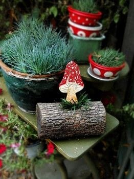 Clay, clay mushroom, DIY, tutorial, garden decor, decoration, mushroom decoration .  Free tutorial with pictures on how to make an ornament in under 15 minutes using clay roller, sculpey clay, and sculpting clay. How To posted by Maya Kuzman.  in the Home + DIY section Difficulty: Easy. Cost: Cheap. Steps: 6