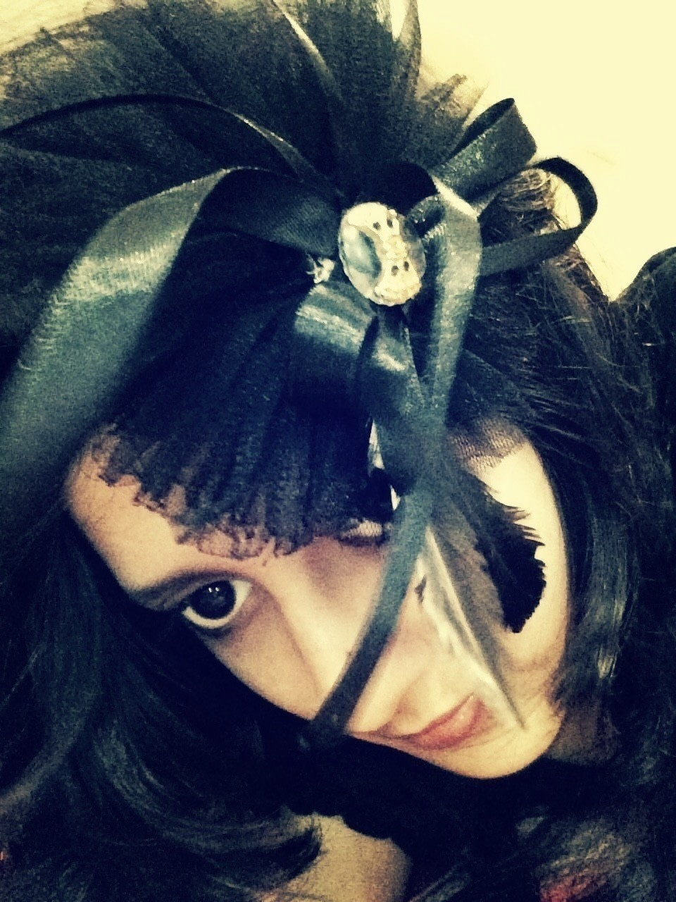Gothic Ribbon Amp Feather Hair Band 183 How To Make A Hat A