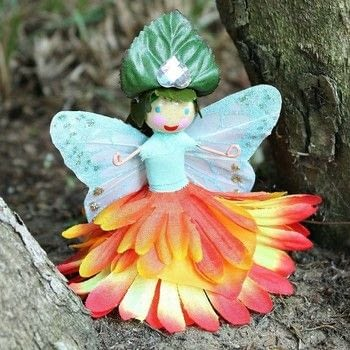 Make fairy dolls with easy to find supplies! .  Free tutorial with pictures on how to make a plushies & friends in under 60 minutes by creating, decorating, gardening, and not sewing with scissors, wire, and glue gun. How To posted by Mark Montano.  in the Art section Difficulty: Easy. Cost: Absolutley free. Steps: 3