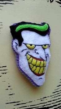 HAHAHAHAHAHAHAAAAHAH! .  Make a fabric brooch in under 180 minutes using felt. Inspired by batman, clowns, and harley quinn. Creation posted by Kira.  in the Needlework section Difficulty: Easy. Cost: No cost.