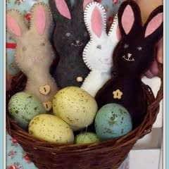 Basket Of Huggable Bunnies
