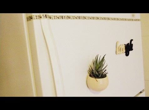 Fridge art plants magnets painting  .  Make a letter in under 15 minutes by creating, decorating, and woodworking with wood letters, paint, and plant. Creation posted by PJ C.  in the Decorating section Difficulty: Easy. Cost: Cheap.