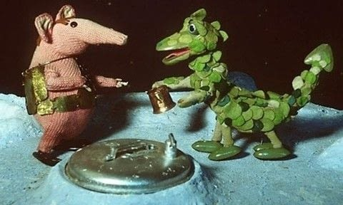 1960's Clangers TV Show Nostalgia .  Free tutorial with pictures on how to sew a TV show plushie in under 180 minutes by hand sewing, decorating, embellishing, and sewing with felt, felt, and felt. Inspired by tv shows and dragon. How To posted by Caz.  in the Sewing section Difficulty: 3/5. Cost: Cheap. Steps: 15