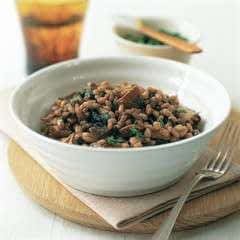 Barley Risotto With Red Wine And Mushrooms