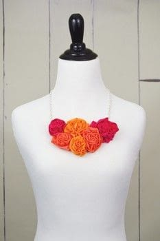 DIY T-Shirt Crafts .  Free tutorial with pictures on how to make a collar / bib in under 45 minutes by jewelrymaking and sewing with necklace chain, wire cutters, and jump rings. Inspired by floral. How To posted by FW Media.  in the Sewing section Difficulty: Simple. Cost: Cheap. Steps: 6