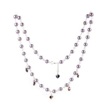 Create a pretty pearl necklace with heart embellishments in no time at all! .  Free tutorial with pictures on how to make a beaded necklace in under 60 minutes using pearls, jump rings, and 1-step looper. How To posted by Jaide Lillie.  in the Jewelry section Difficulty: Simple. Cost: Cheap. Steps: 3