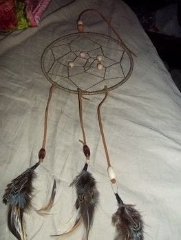 Dreamcatcher .  Make a dream catcher in under 60 minutes by weaving and decorating with wooden beads, feathers, and twine. Creation posted by Annap72.  in the Home + DIY section Difficulty: Simple. Cost: 3/5.