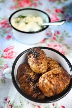 Delicious, crispy hassleback potatoes with mustard and dill. .  Free tutorial with pictures on how to cook a hasselback potato in under 35 minutes by cooking and baking with potatoes, garlic cloves, and butter. Recipe posted by Cat Morley.  in the Recipes section Difficulty: Simple. Cost: Cheap. Steps: 5