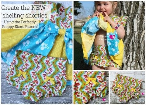 Make some shorties for your girl .  Free tutorial with pictures on how to sew baby trousers in under 60 minutes using pattern. How To posted by JeanineThomlinson.  in the Sewing section Difficulty: Easy. Cost: Absolutley free. Steps: 5