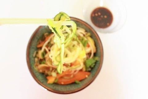 Try zoodles - a perfect alternative to pasta noodles or Ramen. .  Free tutorial with pictures on how to cook a stir fry in under 30 minutes by cooking with honey, oil, and soy sauce. Recipe posted by Carissa C.  in the Recipes section Difficulty: Simple. Cost: Cheap. Steps: 4