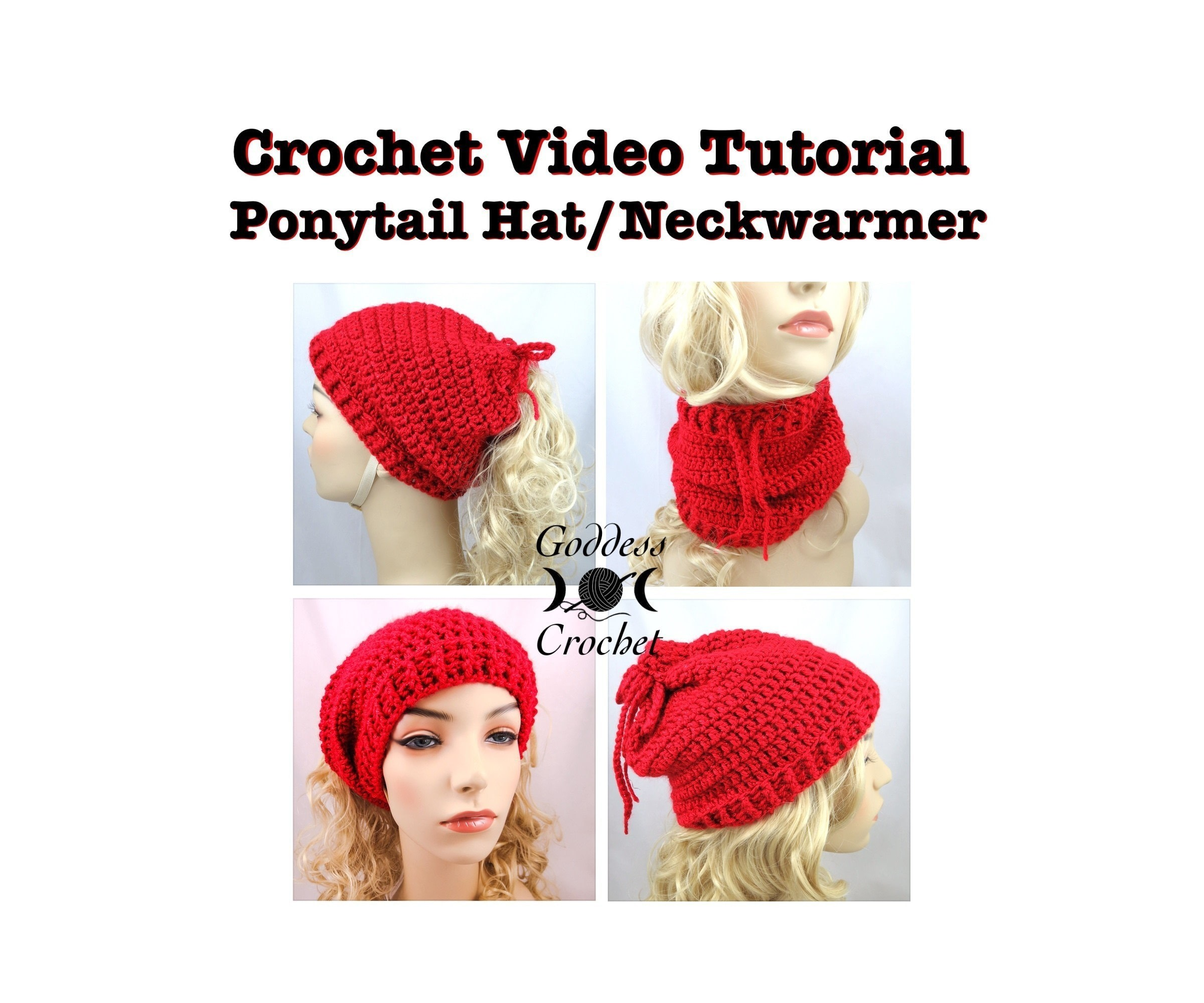 Convertible Ponytail Hat Neck Warmer · How To Make A Hooded Scarf ...