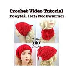 Convertible Ponytail Hat Neck Warmer