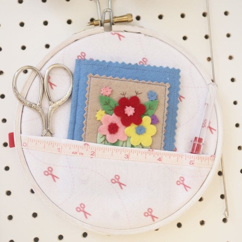 Embroidery hoop sewing kit · how to make a kits