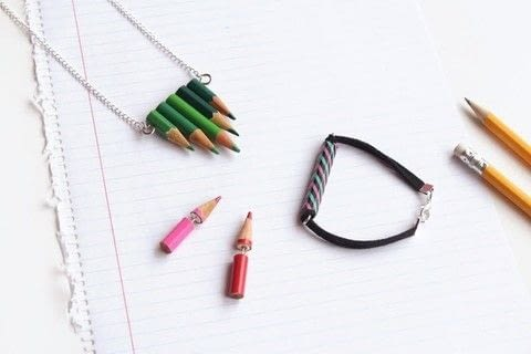 Go back to school in style .  Free tutorial with pictures on how to make jewelry in under 30 minutes using glue, pliers, and saw. How To posted by CurlyMade.  in the Jewelry section Difficulty: Easy. Cost: No cost. Steps: 1