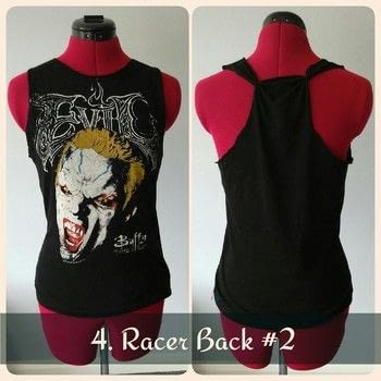5 examples of how to Make ordinary t-shirts one of a kind .  Make a revamped t-shirt by knotting, sewing, and hand sewing with t shirt and needle and thread. Inspired by music & bands and movies. Creation posted by HerNameIsAlixx.  in the Sewing section Difficulty: Simple. Cost: No cost.
