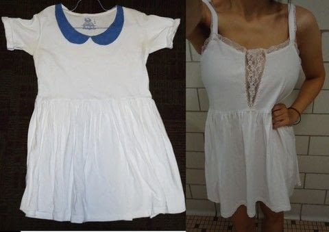 Revamping a dress I made 2 years ago. .  Sew a t-shirt dress in under 120 minutes using dress, lace trim, and sewing machine. Creation posted by Rachel's Craft Channel.  in the Sewing section Difficulty: Easy. Cost: No cost.