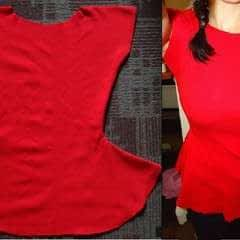 Super Easy Peplum Top (No Zipper, Only Two Seams)