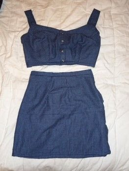 A two piece blue flannel dress .  Make a tank dress using flannel,  buttons, and sewing machine. Creation posted by Rachel's Craft Channel.  in the Sewing section Difficulty: 3/5. Cost: No cost.