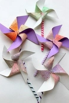 Does this remind you of carnivals too? .  Free tutorial with pictures on how to make a pinwheel in under 10 minutes by papercrafting with ruler, pins, and paper. Inspired by pinwheels. How To posted by The Craftables.  in the Papercraft section Difficulty: Simple. Cost: Absolutley free. Steps: 6