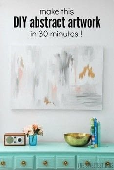 DIY Abstract Art .  Free tutorial with pictures on how to paint a piece of splattered paint art in under 30 minutes by creating with canvas, paints, and paintbrush. How To posted by Gemma C.  in the Art section Difficulty: Easy. Cost: Absolutley free. Steps: 7