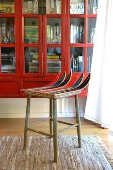 Build a really unique and fun chair .  Free tutorial with pictures on how to make a stool in under 120 minutes by constructing with wood, drill, and saw. How To posted by Sandra B.  in the Home + DIY section Difficulty: 3/5. Cost: Cheap. Steps: 3