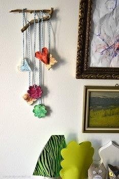 Make these ornaments that can be made into a mobile - or Christmas tree decorations .  Free tutorial with pictures on how to make a mobile in under 120 minutes using glue, salt, and glitter. How To posted by Sandra B.  in the Home + DIY section Difficulty: Easy. Cost: Absolutley free. Steps: 4